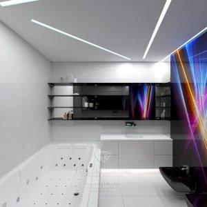 Фото интерьера санузла в современном футуристическом стиле