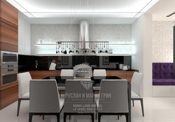 Фото интерьера современной кухни