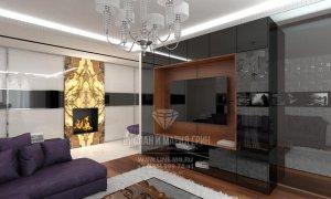 Дизайн гостиной, квартира в современном стиле