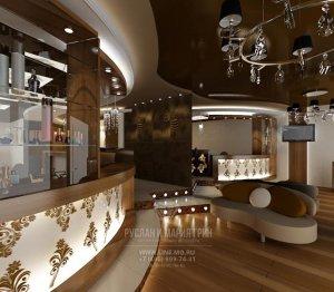 Зона ресепшн в салоне красоты из портфолио дизайнеров Руслана и Марии Грин