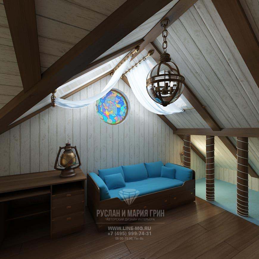Дизайн мансарды в загородном доме