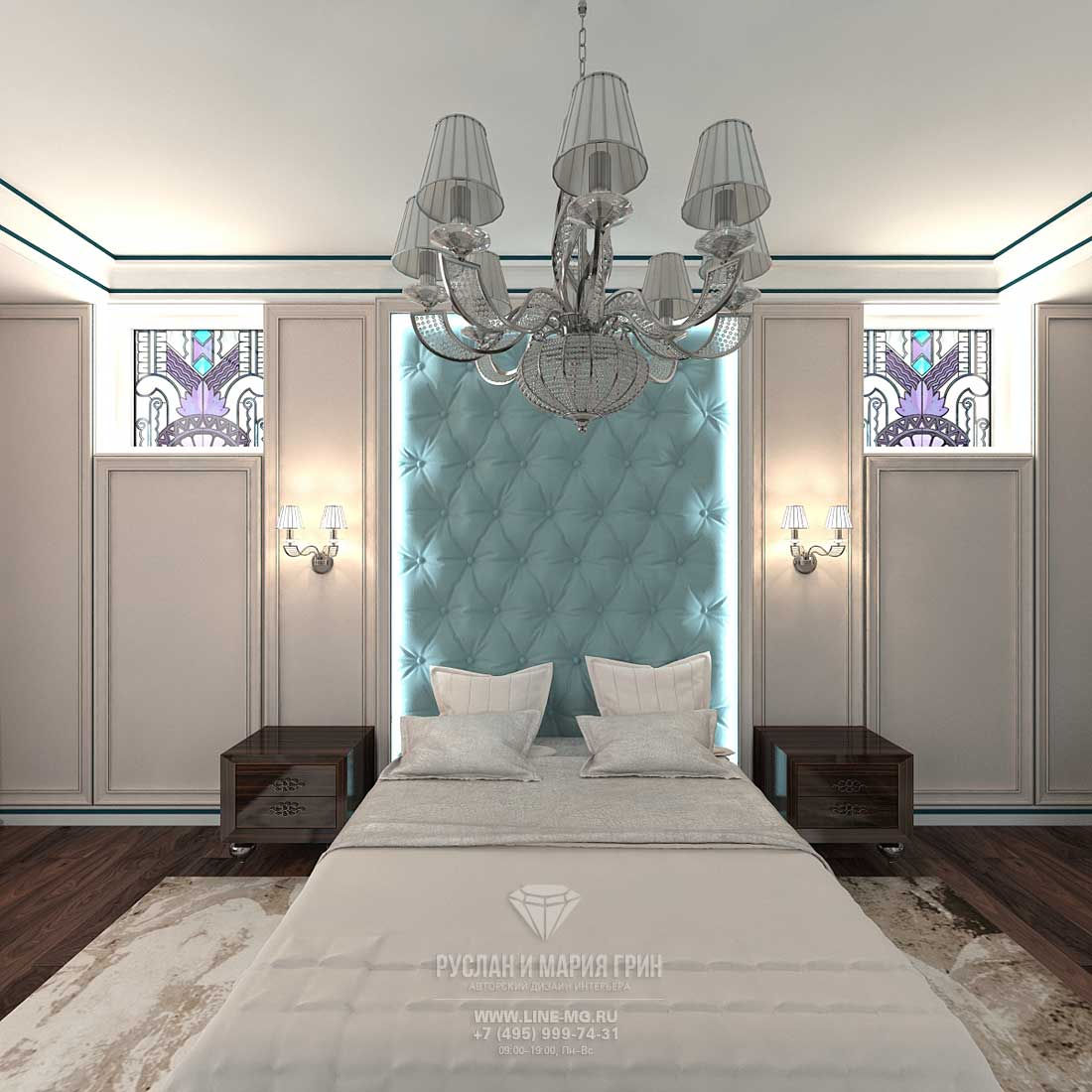 The modern idea bedroom design in the style of Art Deco