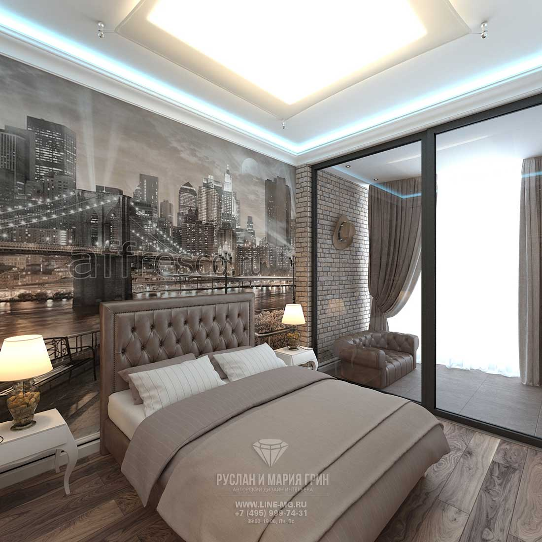 Room interior design for a 10-year-old boy. Apartment in Skolkovo Park