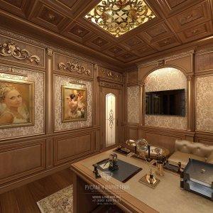 Стильный дизайн кабинета. Фото 2015