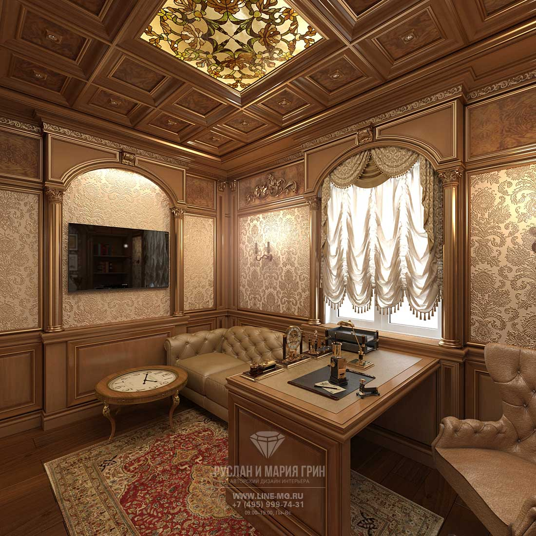 Interior of the the cabinet in the house. Design Ideas