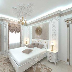 Дизайн гостевой белой спальни