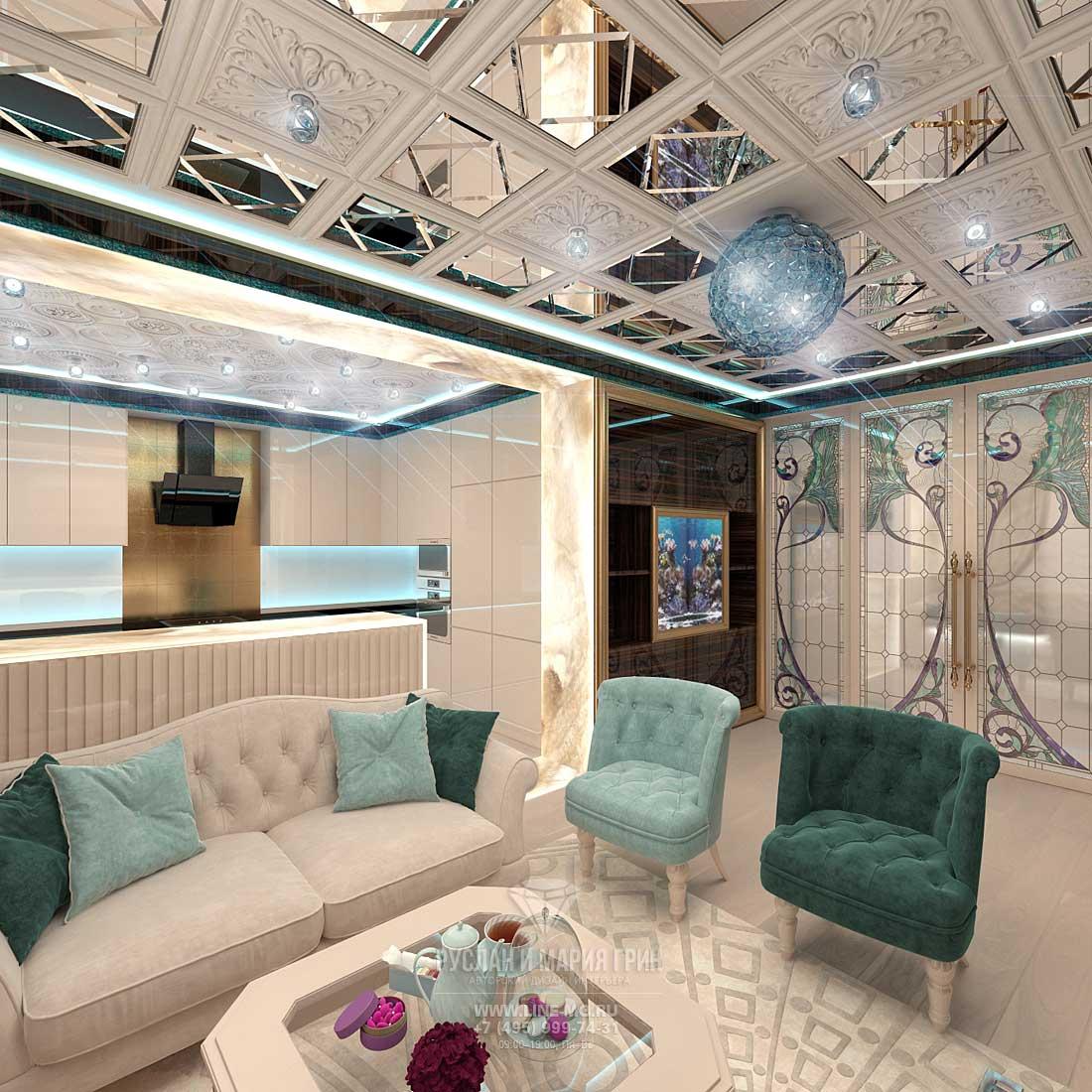 Дизайн светлой гостиной комнаты