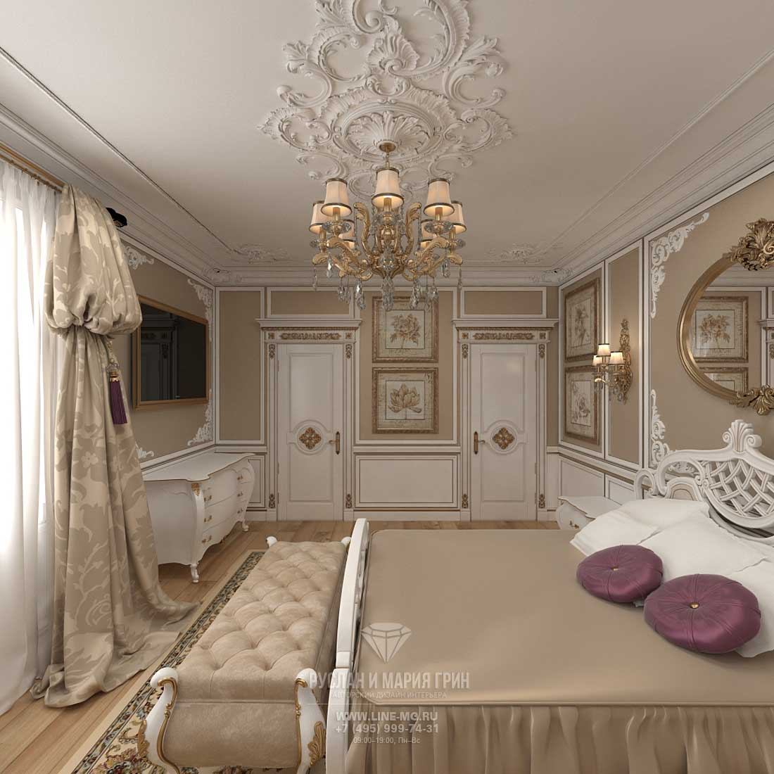 Дизайн спальни в загородном доме. Фото 2016