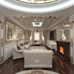 Дизайн гостиной в классическом стиле. Фото 2016