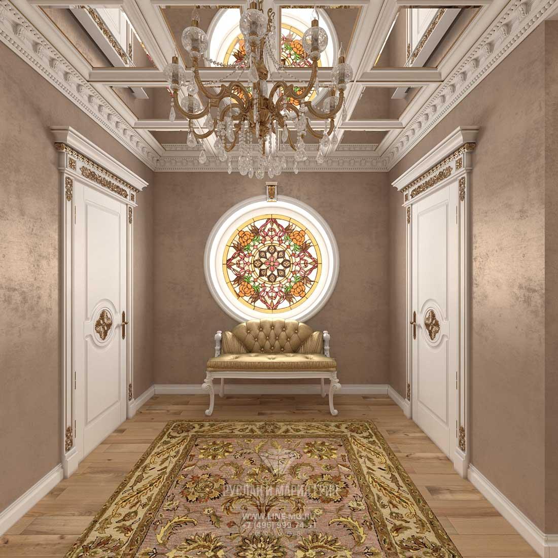 Дизайн холла в доме. Фото 2016