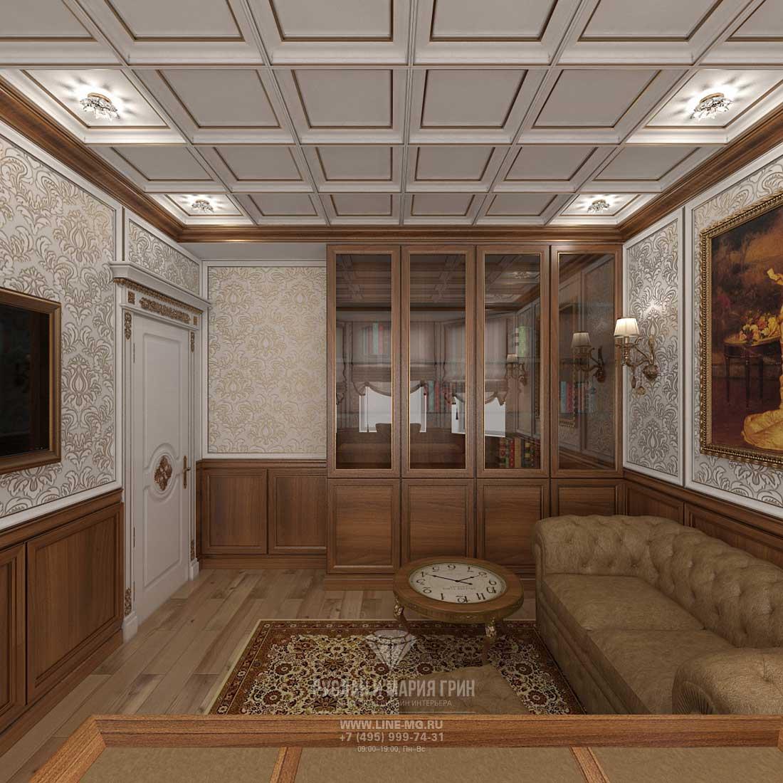 Дизайн кабинета в доме. Фото 2016