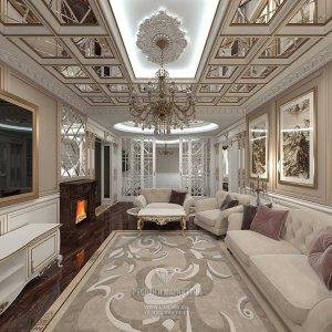 Дизайн гостиной в доме. Фото 2016