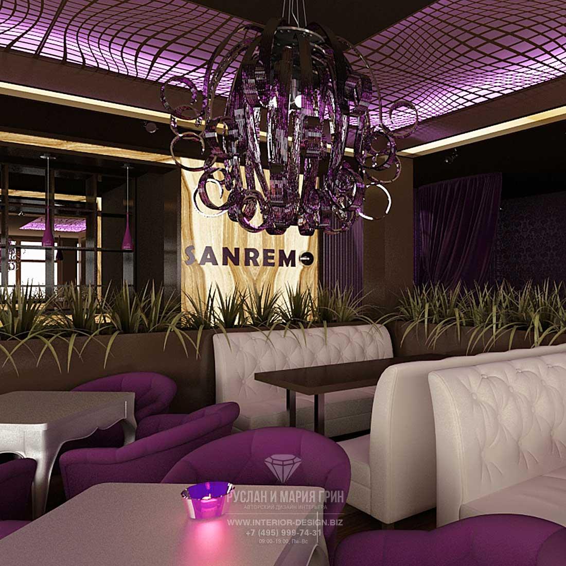 Дизайн зала ресторана в Куркино