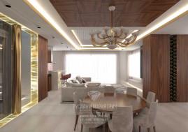 Дизайн кухни-гостиной-столовой в загородном доме в Испании