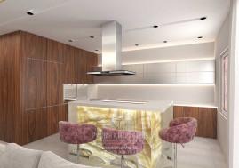 Дизайн кухни-гостиной в загородном доме в Испании