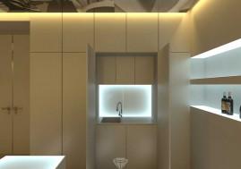 Дизайн барной зоны кинозала в загородном доме в Испании