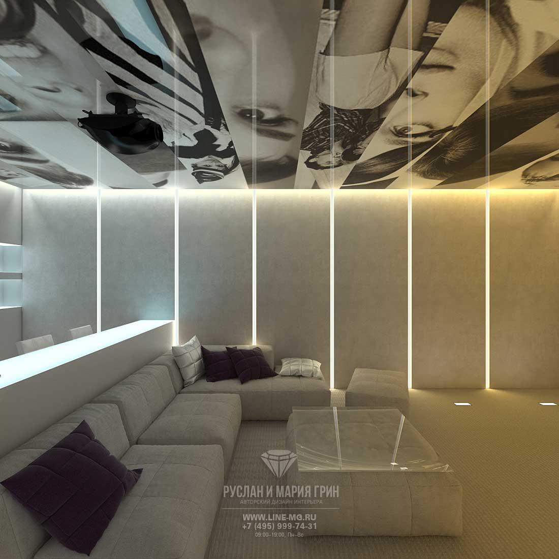 Дизайн кинозала в загородном доме в Испании