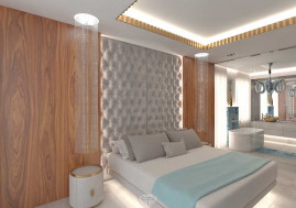 Дизайн спальни в загородном доме в Испании