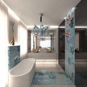 Дизайн санузла при спальне в загородном доме в Испании