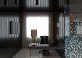 Дизайн кабинетной зоны спальни в загородном доме в Испании