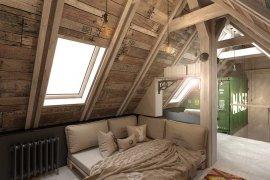 Дизайн дома в стиле лофт с мансардой