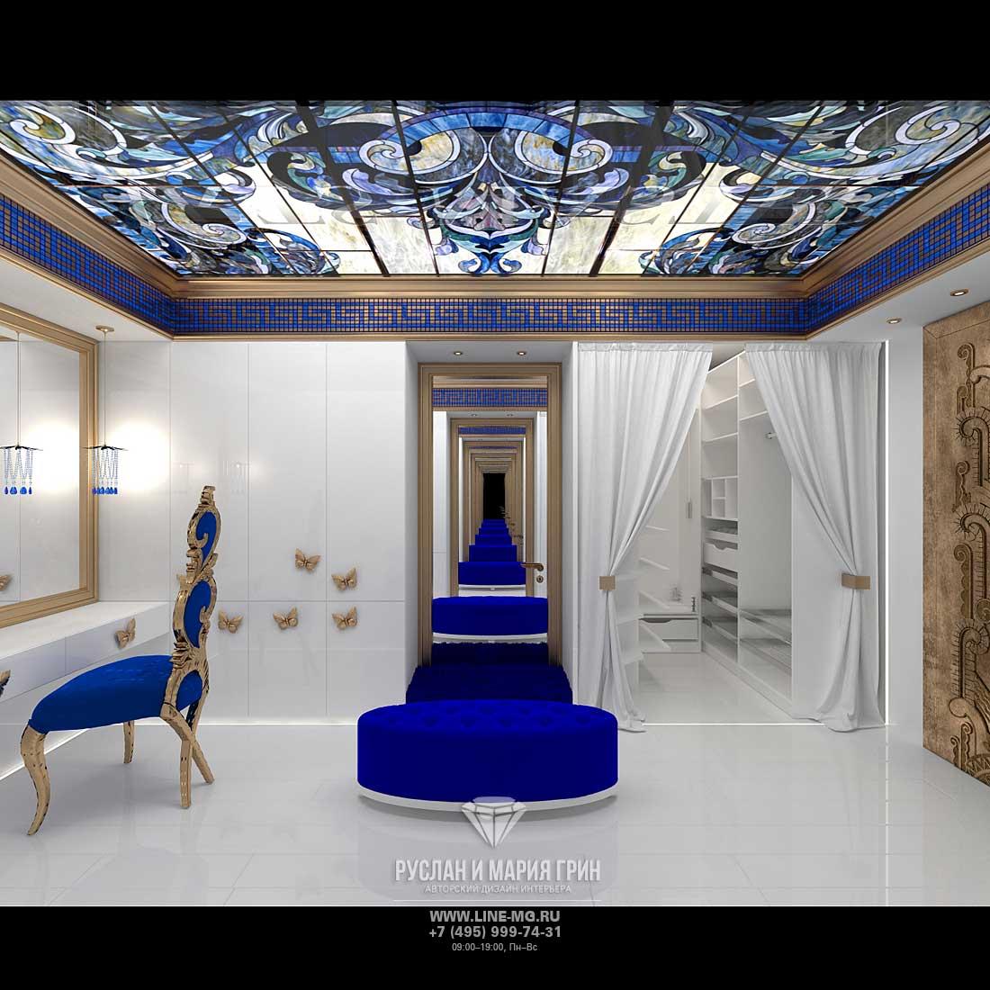 Дизайн гардеробной комнаты на мансарде