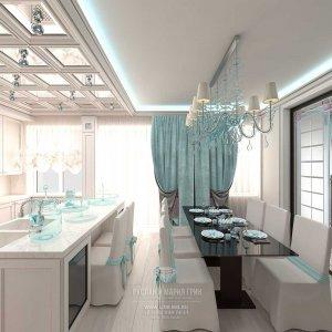 Дизайн кухни-столовой в квартире