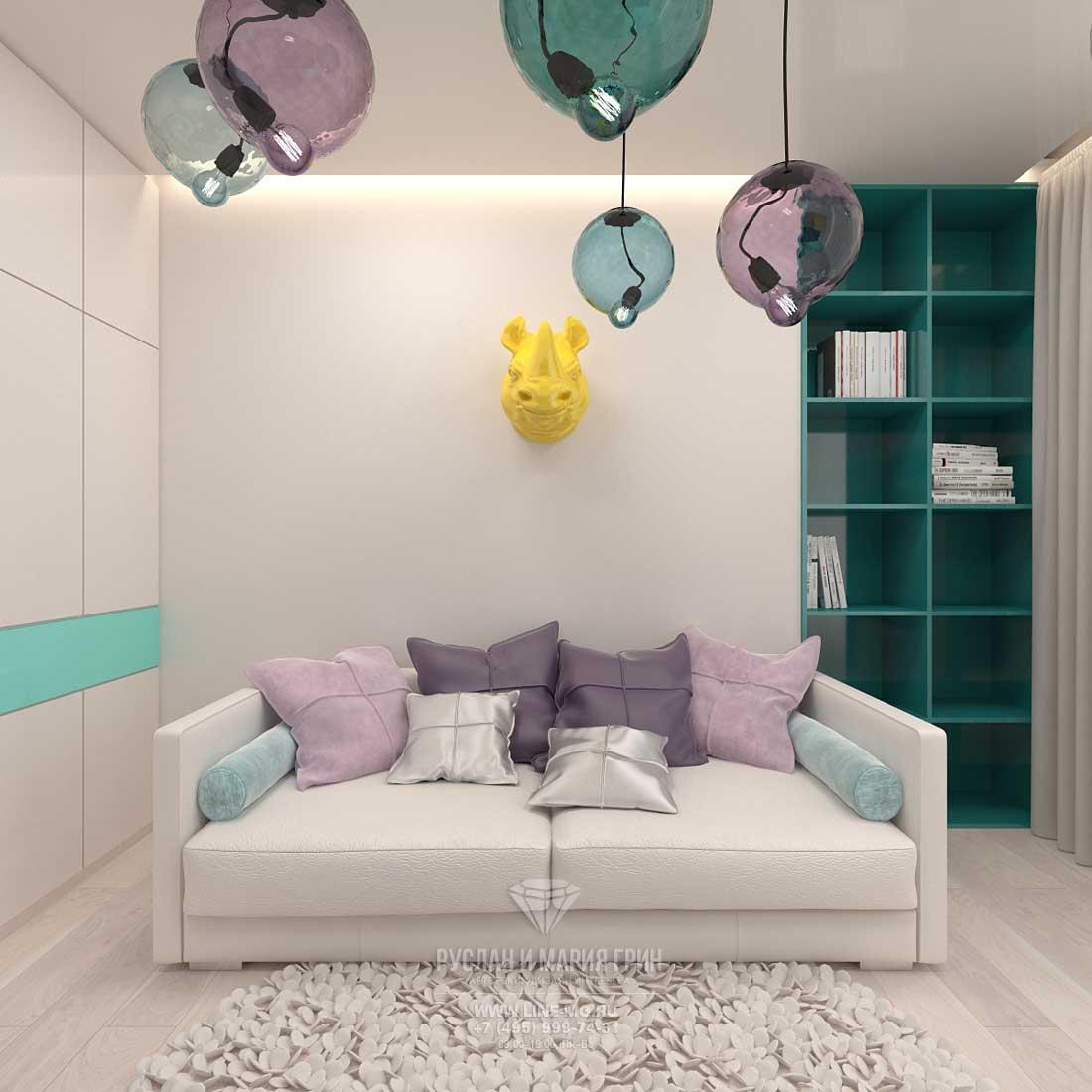 Дизайн современной детской комнаты для девочки