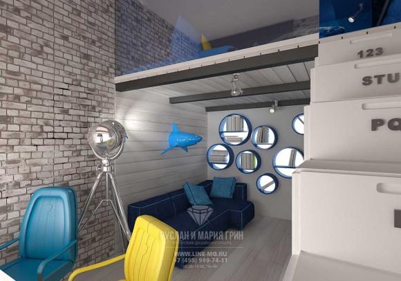 Дизайн детской комнаты для мальчика в квартире