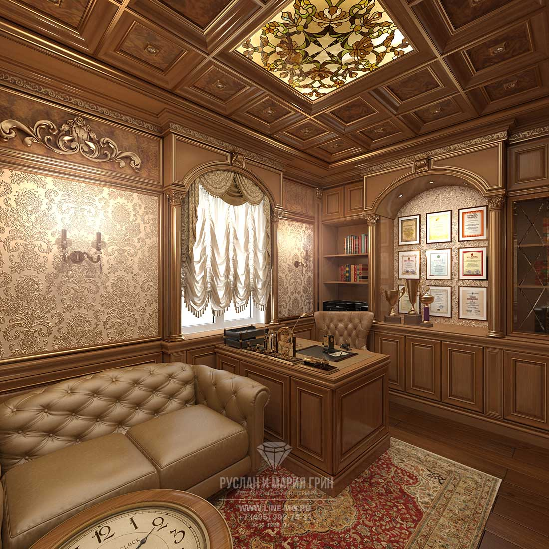 Interior design project and renovation. Classic palatial ...