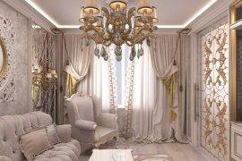 Apartment design in light colours
