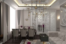 Three Room Apartment Interior Design ('Patrimony' Residential Complex, Moscow)