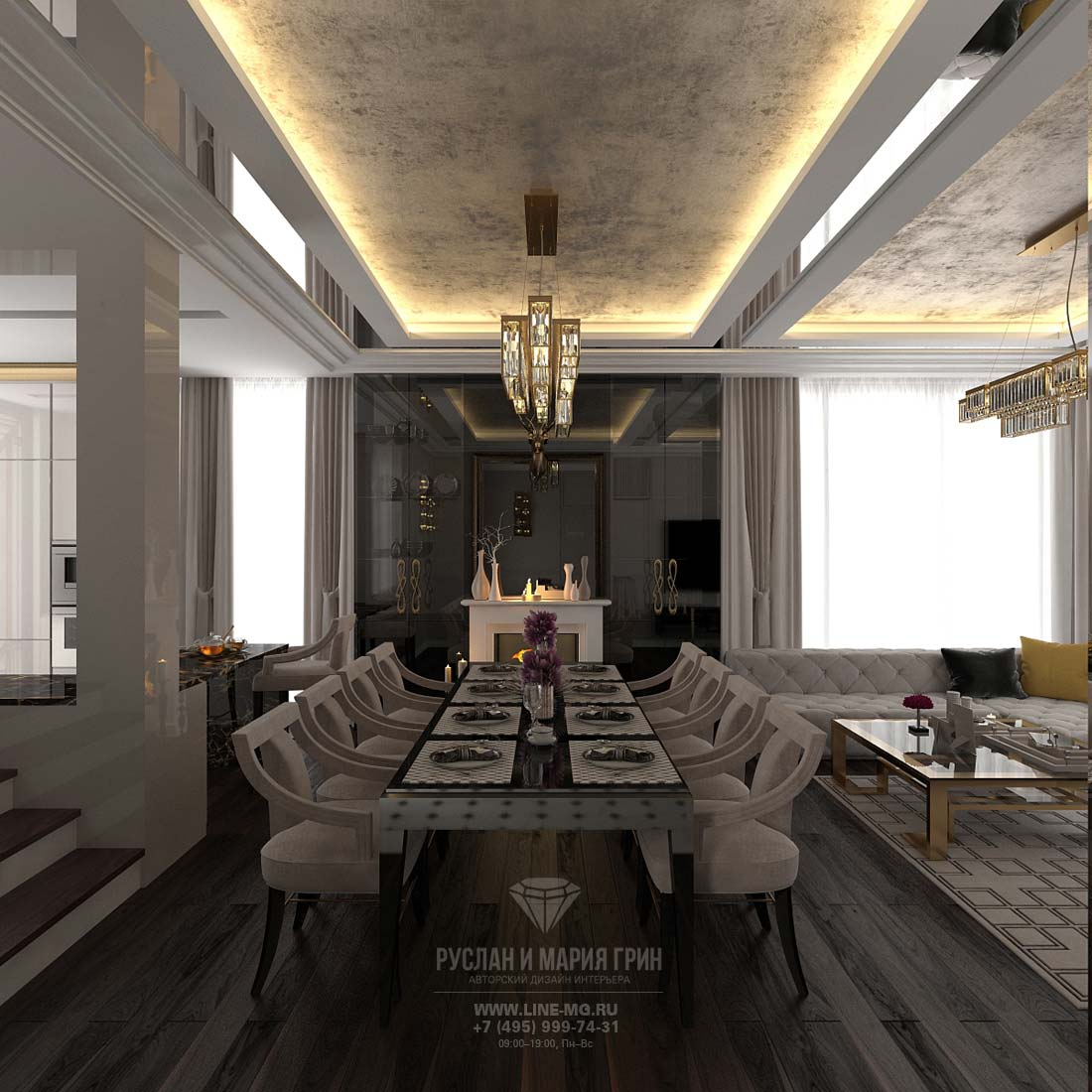First floor design of modern cottage