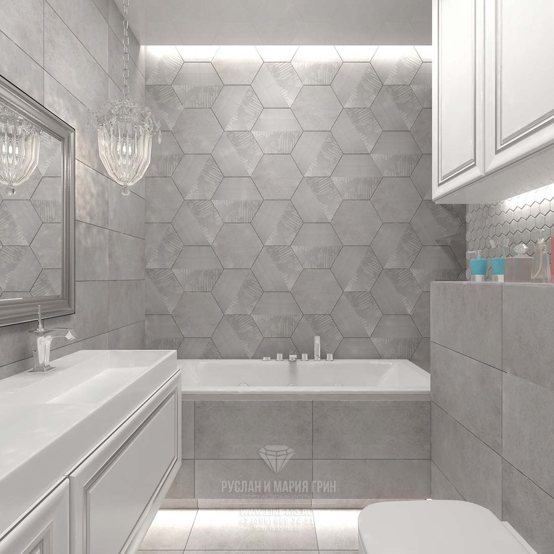 Элитный дизайн ванной комнаты: фото