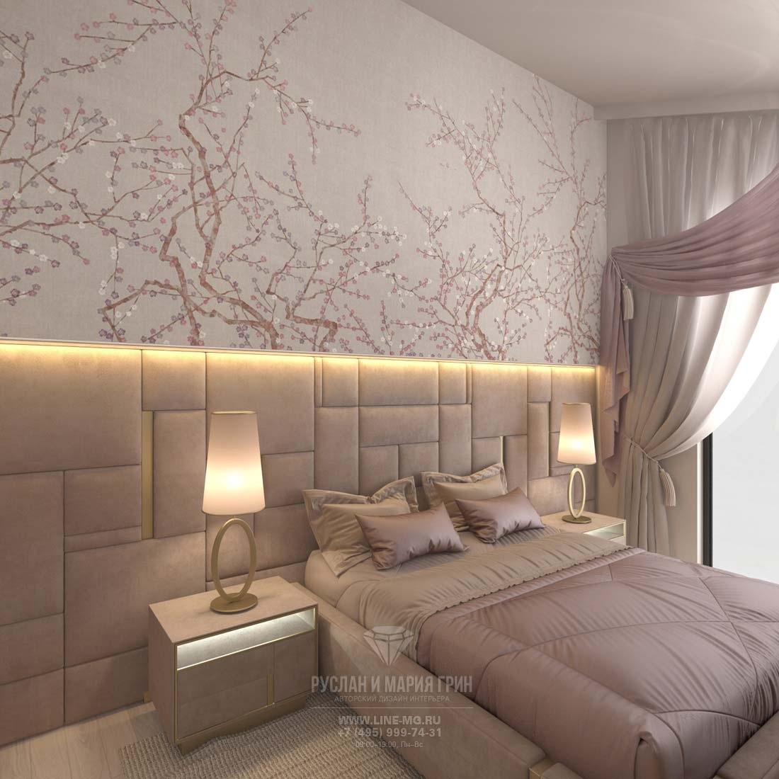 Rose bedroom design