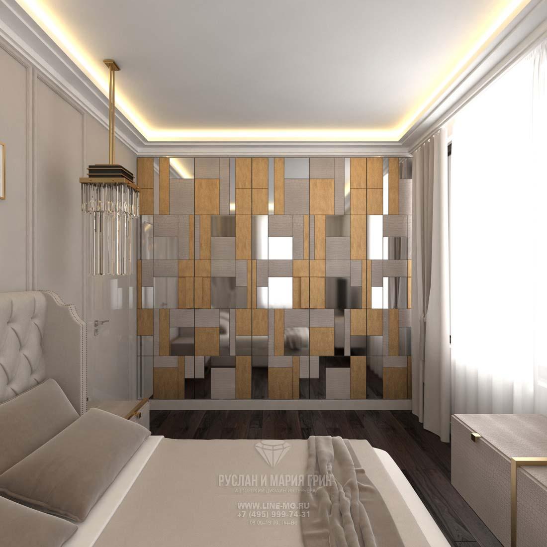 Дизайн спальни в загородном доме. Фото.
