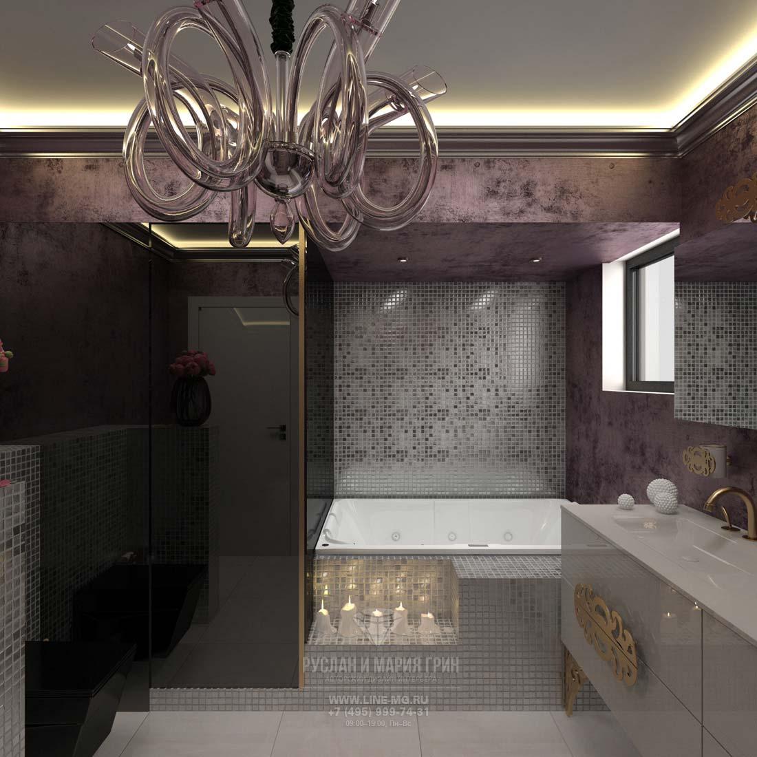 Bathroom interior in the cottage