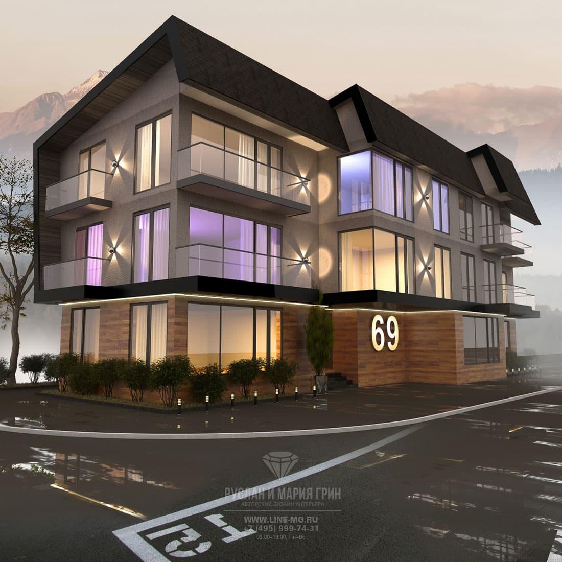 Apart-hotel facade