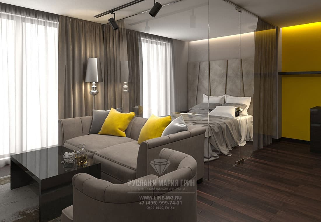 Room design of apart-hotel in Krasnaya Polyana