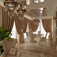 Дизайн интерьера столовой в светлых тонах