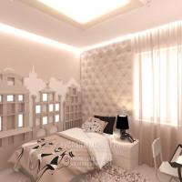 Дизайн интерьера светлой детской комнаты