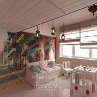 Дизайн интерьера детской игровой комнаты