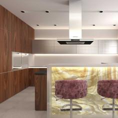 Дизайн интерьера кухни в загородном доме. Фото 2016