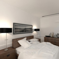 Дизайн интерьера спальни с элементами лофта