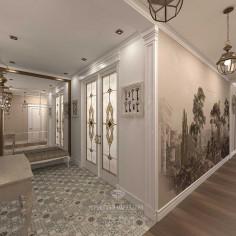 Дизайн интерьера прихожей и коридора