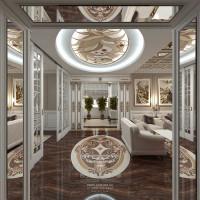 Дизайн интерьера шикарной гостиной в загородном доме