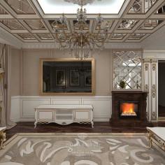 Дизайн интерьера гостиной в загородном доме