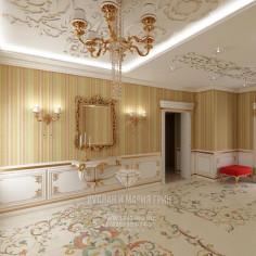 Дизайн интерьера холла в классическом стиле