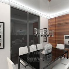 Дизайн интерьера кухни-гостиной в современном стиле