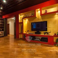 Дизайн интерьера гостиной с элементами восточного стиля